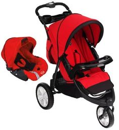 Carreola Y PortaBebe Prinsel Nueva Carriola Fox 5123 - Rojo