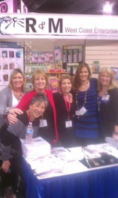 Swarovski Ambassadors signing books at CHA! Lilian Chen, June Beach, Diane Whiting, Leslee Frumin, Lisa Pavelka, and Jamie North.