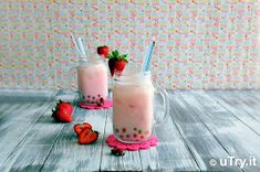 Check out how to make this whimsical Strawberry Rose Milk Tea with Rainbow Boba! It's refreshing and delicious. You'll be surprised how easy it is to prepare. http://uTry.it
