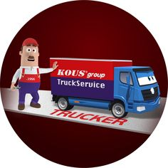 TruckService est. 1956 - Past-Present-Future -3 companies and one logo- KOUSgroup (TRUCKSERVICE - TRUCKER - KOUSGROUP) the double 20 decade logo! THIS IS IT !!! 3 Company, One Logo, Past Present Future, Spare Parts, Toy Chest, Trucks, Logos, Track, Truck