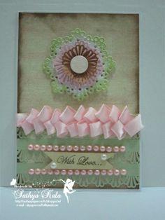 MS decoshell flower card