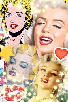 Collage ❤Marilyn Monroe Art ~*❥*~❤