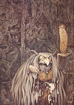 "artsytoad: ""Brian Froud, Wengwa of the Crystal Eye """