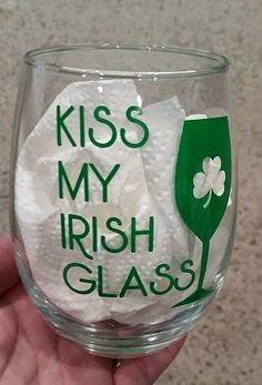 Scrappin' My Stress Away: St. Pat's Day Wine Glasses