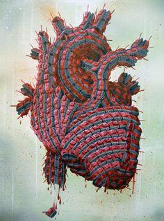Andy Council - Tank Heart - acrylic and spray paint