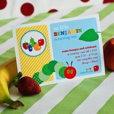 Caterpillar Birthday Party Printable Invitation by Anders Ruff Custom Designs $18.00