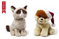 Grumpy Cat And Boo The World's Cutest Dog w/Santa Hat Pomeranian Dog Gund NWT #GUND #Christmas