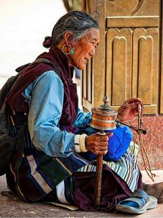 Woman, prayers, mantras