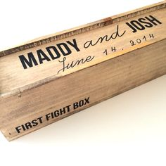 Wedding wine box first fight box wine box by FreestyleMom on Etsy, $45.00