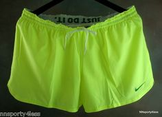 Nike Women's 439628 Phantom Track Shorts 2 in 1 Running Tennis Workout Neon Lime | eBay