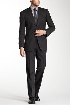 Star USA Tailored Clothing  Bedford Grey Pinstripe Suit