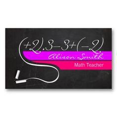24 best tutor business card samples images on pinterest business math teacher business card colourmoves