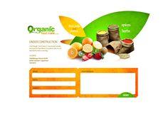 Organic food trader design concept
