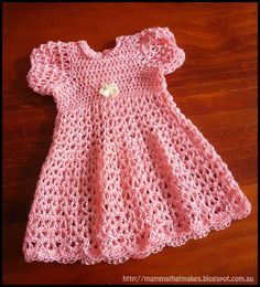 Perfect corchet dress for your pink girls . FREE PATTERN !#diy #crafts #crochet