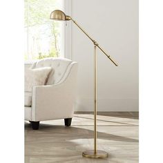 "Dawson Antique Brass 55 1/2"" High Pharmacy Floor Lamp - #1K787 