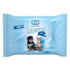 Amici e Felici Salviette Igieniche al Talco per Cani e Gatti  3,10€