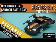 How To Model a Cartoon Battle Car in Blender 2.73