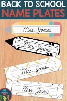 Cursive Desk Name Plates : Pencil Theme (Editable) Teaching Kids To Write, Primary Teaching, Elementary Teaching, Learning Cursive, Handwriting Practice, Cursive Handwriting, Desk Name Tags, Desk Name Plates, Beginning Of The School Year