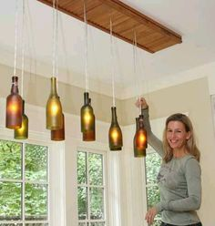 Luminarias de garrafa