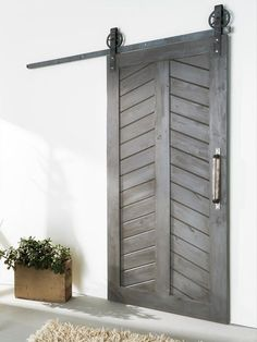Rustic Modern Chevron door via WHITE SHANTY