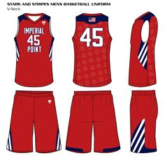 9d7694ae3 Stars and Stripes Men s Sublimated Basketball Uniform Custom Basketball  Uniforms