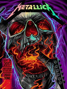 Metallica @ Ziggo Dome Amsterdam Night 2 (Foil Variant) by Maxx242 for F4D Studios (2017)