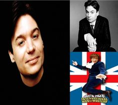 Mike Myers ~ Born Michael John Myers May 25, 1963 (age 52) in Scarborough, Ontario, Canada.  Canadian actor, comedian, screenwriter, and film producer, known for his run as a featured performer on Saturday Night Live from 1989 to 1995, and for playing the title roles in the Wayne's World, Austin Powers, and Shrek films. #MikeMyersAndShrek