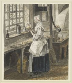 The Kitchen at Sandpit Gate Creator: Paul Sandby (1731-1809) (artist) Creation Date:  circa 1752 Materials:  Pen and ink and watercolour