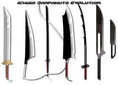 BLEACH, Zanpakuto Sword Evolution of Kurosaki Ichigo, Sword in Manga/Anime