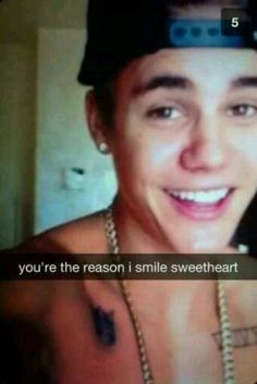 He is the reason I smile
