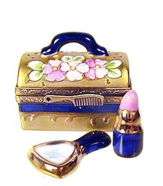 train case w/lipstick & mirror