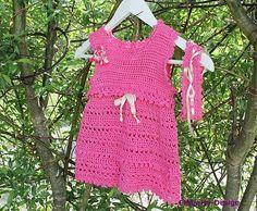 Heklet kjole med hårbånd 3/6 mnd. Barn, Dresses, Design, Fashion, Pink, Vestidos, Moda, Converted Barn, Fashion Styles