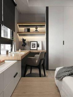Minimal Interior Design Inspiration -, - Home Office Ideas - Einrichtungsideen Office Interior Design, Office Interiors, Interior Design Inspiration, Design Ideas, Bedroom Inspiration, Luxury Interior, Home Office Space, Home Office Decor, Home Decor