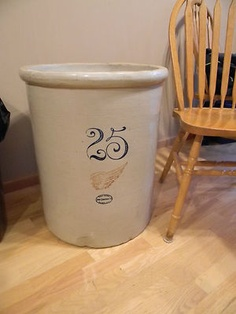 Antique Red Wing 25 Gallon Crock Stoneware-very Rare-good Cond.-large | Antique Stoneware Shop