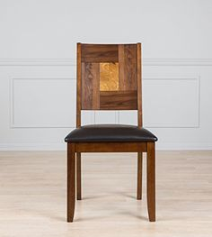 Solid Hardwood Square Back Brown Dining Chair Set Of 2 Check Out This Room AccessoriesDining