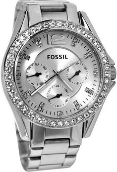 Fossil Riley Silver Tone Dial Metal Bracelet Women Watch New Fossil Riley Silver Tone Dial Metallarmband Damenuhr … Cute Watches, Stylish Watches, Watches For Men, Woman Watches, Ladies Watches, Fossil Watches, Beautiful Watches, Metal Bracelets, Stainless Steel Watch