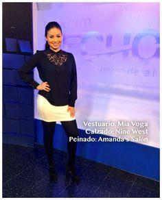 Look del día de @webbcarolina9 by Amandas Salon, Mia Voga y Nine West #AsíSomosOnline #ElSalvador #Look #Moda #Belleza #RoxanaWebb #CélidaMagaña #AmandasSalon