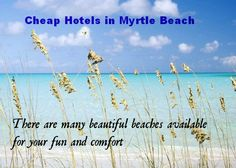 Want to participate in beach activities? Wish to spend relaxing time with one of the family members at Myrtle Beach? Don't want to pay much for the Myrtle Beach trip? If yes, book cheap hotels in Myrtle Beach now.  Get unbelievable staying experience with best room amenities.  Either you are on a business tour or vacation tour, we will able to make your journey complete with modern atmosphere and hospitality. www.myrtlebeachcheaphotels.org
