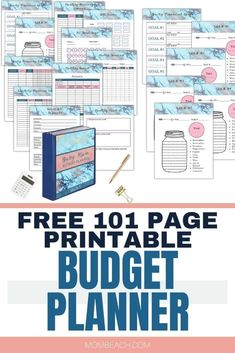 You won't believe the amazing pages this free printable budget planner has inside! There are monthly budget trackers, yearly trackers, no spending challenges, debt tracker, and so much more! 101 pages in all! Budget Sheet Template, Printable Budget Sheets, Monthly Budget Printable, Budget Planner Template, Monthly Budget Planner, Budget Binder, Planner Inserts, Printable Planner, Free Printables