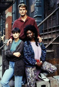 """Ghost"". Patrick Swayze, Demi Moore and Whoopi Goldberg"