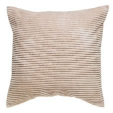 Wilko Fleece Ribbed Cushion Cream 55cmx55cm