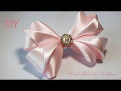 Бантики из атласной ленты на резинке Канзаши Satin ribbon bow Laco de fita - YouTube