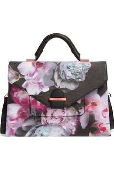 Ted Baker London Ethereal Posie Faux Leather Satchel available at #Nordstrom