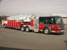 Tiller Fire Truck
