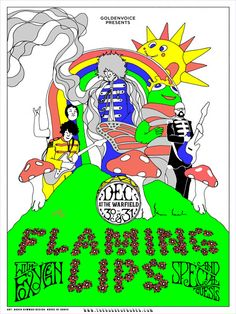 GigPosters.com - Flaming Lips, The - Flaming Lips - Foxygen - Miley Cyrus