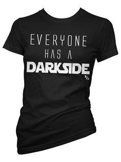 "Women's ""Everyone Has A Darkside"" Tee by Pinky Star (Black)"
