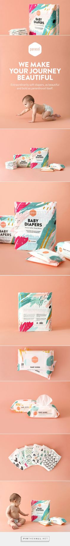 Parasol Co Diapers + Wipes — The Dieline - Branding & Packaging - created via https://pinthemall.net