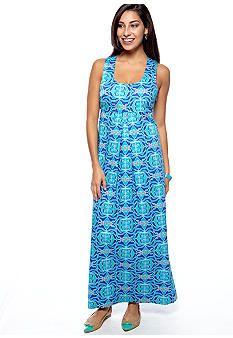 ellen & ollie Racer-Back Printed Maxi Dress - Belk.com