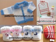 Free baby crochet patterns from http://patternsforcrochet.co.uk/baby-crochet-patterns.html #crochet #patternsforcrochet #freecrochetpatterns