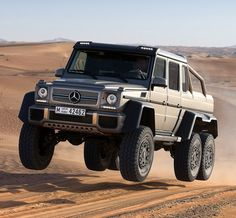 The Mercedes-Benz G63 AMG 6x6, which is a 4 ton, six wheel monster with a pickup bed and a 5.5 liter twin-turbo V8, was basically made for tackling the terrain of the jungle fighting dinosaurs and sh*t.